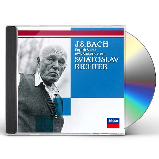 Bach / Sviatoslav Richter BACH: ENGLISH SUITES BWV 808 809 & 811 CD