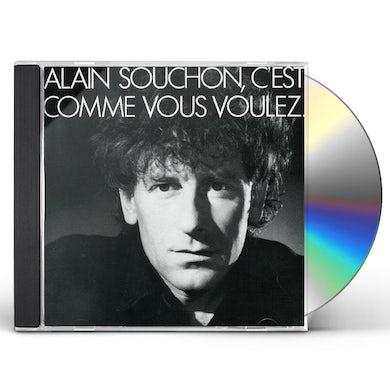 Alain Souchon C'EST COMME VOUS VOULEZ CD
