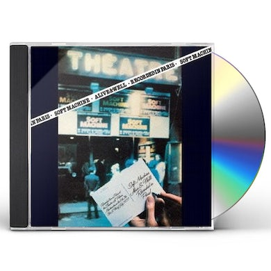 Soft Machine ALIVE & WELL RECORDED IN PARIS CD