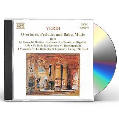 Verdi OVERTURES & PRELUDES CD