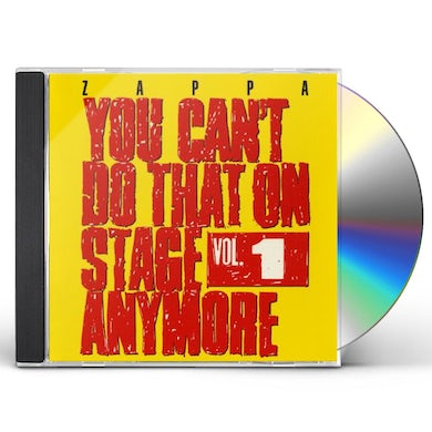 Frank Zappa YOU CAN'T DO THAT ON STAGE ANYMORE 1 CD
