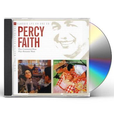 Percy Faith PLAYS CONTINENTAL MUSIC / PLAYS ROMANTIC MUSIC CD