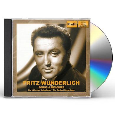 Fritz Wunderlich SONGS & MELODIES: EARLIEST RECORDINGS CD