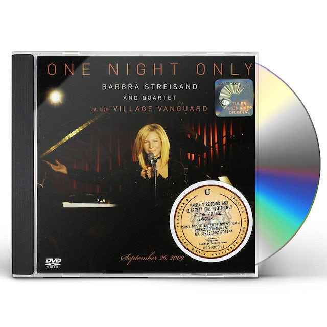 Barbra Streisand ONE NIGHT ONLY: SPECIAL EDITION CD