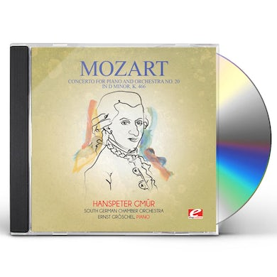 Wolfgang Amadeus Mozart CONCERTO FOR PIANO & ORCHESTRA NO. 20 IN D MINOR K CD