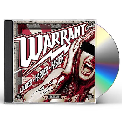 Warrant LOUDER HARDER FASTER CD