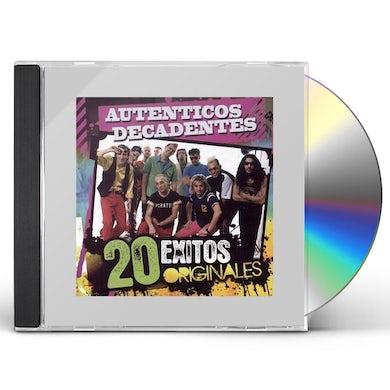 Los Autenticos Decadentes 20 EXITOS ORIGINALES CD