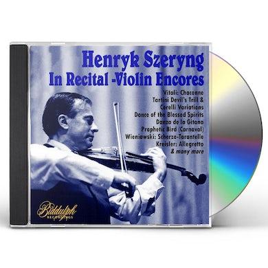 HENRYK SZERYNG: IN RECITAL - VIOLIN ENCORES CD