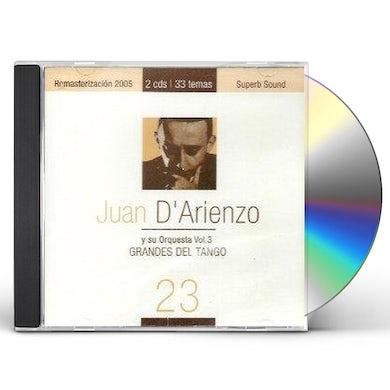 Juan d'Arienzo GRANDES DEL TANGO 23 CD