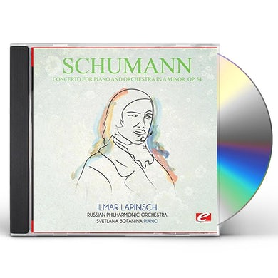 Schumann CONCERTO FOR PIANO AND ORCHESTRA IN A MINOR OP. 54 CD