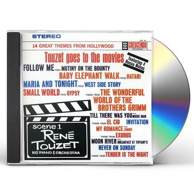 Rene Touzet GOES TO THE MOVIS CD
