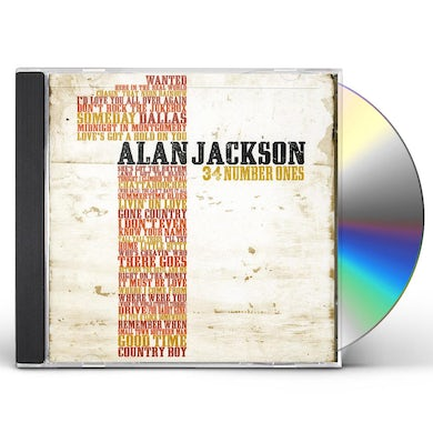 Alan Jackson 34 NUMBER ONES CD