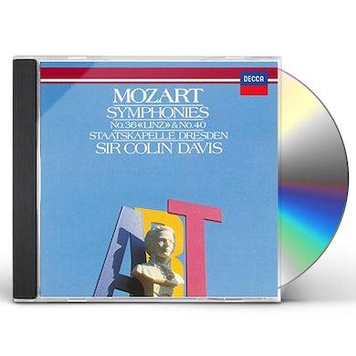 Colin Davis MOZART: SYMPHONIES NO. 36 & NO. 40 CD