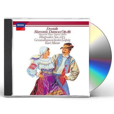 Kurt Masur DVORAK: SLAVONIC DANCES OP. 46. SLAVO CD
