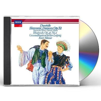 Kurt Masur DVORAK: SLAVONIC DANCES OP. 72. SLAVO CD