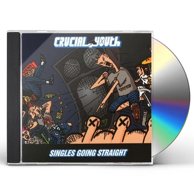 Crucial Youth SINGLES GOING STRAIGHT CD