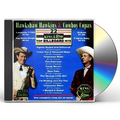Hawkshaw Hawkins 22 KING & STARDAY TOP BILLBOARD HITS CD