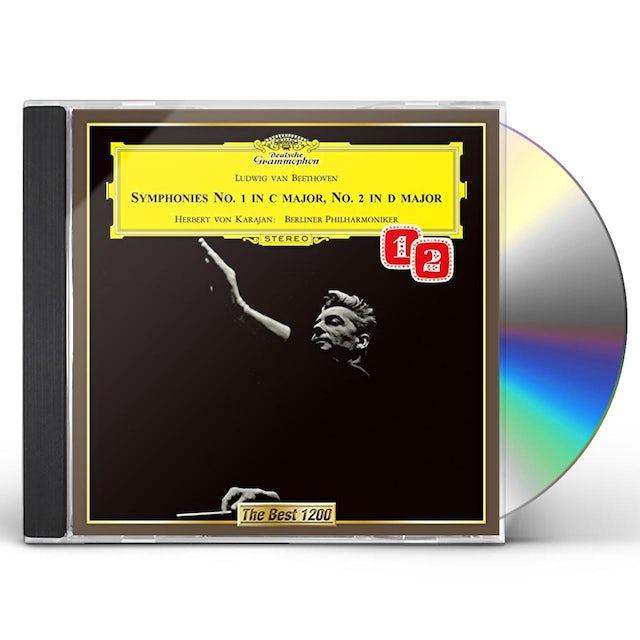 Herbert Von Karajan BEETHOVEN: SYMPHONIES NO. 1 & NO. 2 CD