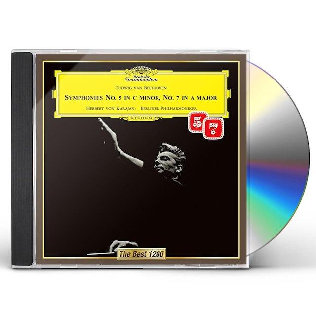 Herbert Von Karajan BEETHOVEN: SYMPHONIES NO. 5 & NO. 7 CD