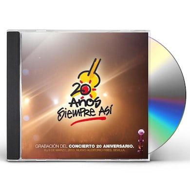 Siempre Asi 20 ANOS CD