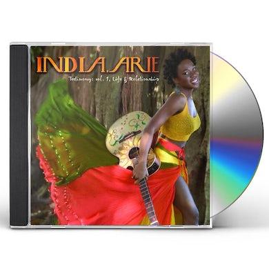 India.Arie TESTIMONY: LIFE & RELATIONSHIP 1 CD
