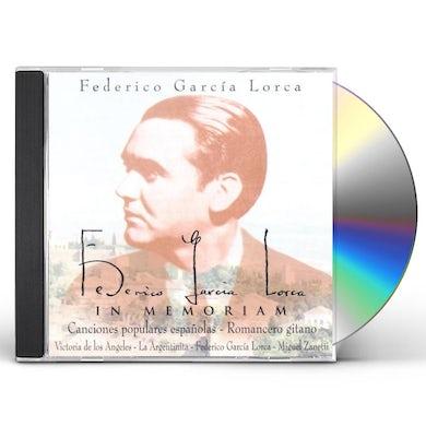 Clasica GARCIA LORCA:IN MEMORIAM/DE LOS ANGELE CD