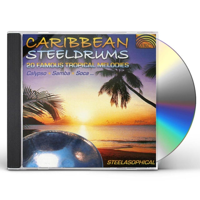 Steelasophical CARIBBEAN STEELDRUMS: 20 FAMOUS TROPICAL MELODIES CD
