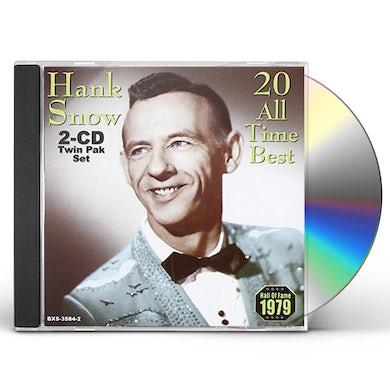 Hank Snow 20 ALL TIME BEST CD