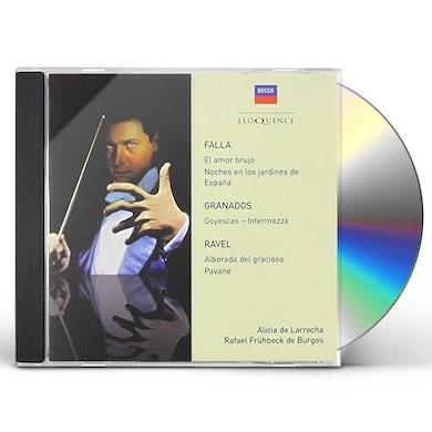 Alicia de Larrocha FALLA GRANADOS RAVEL: ORCHESTRAL WORKS CD