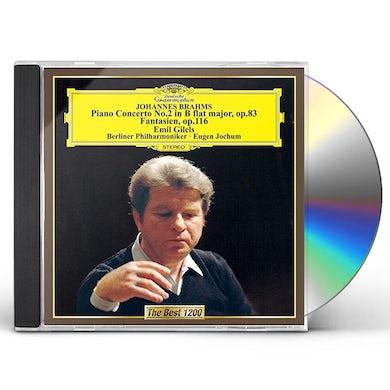 Emil Gilels BRAHMS: PIANO CONCERTO NO. 2. FANTASY CD
