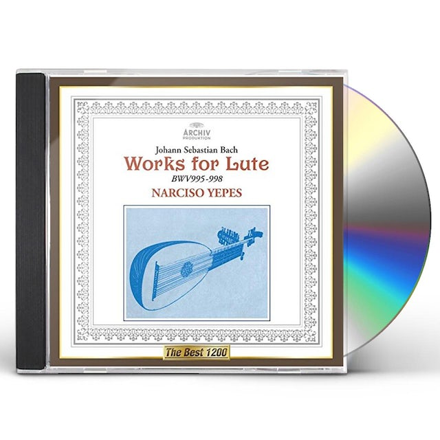 Narciso Yepes J. S. BACH: WORKS FOR LUTE CD