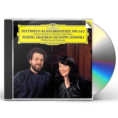 Martha Argerich BEETHOVEN: PIANO CONCERTOS NOS.1 & 2 CD