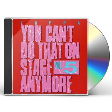 Frank Zappa YOU CAN'T DO THAT ON STAGE ANYMORE 5 CD
