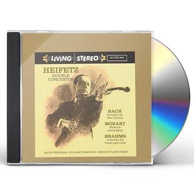 Jascha Heifetz DOUBLE CONCERTOS: BACH, MOZART, BRAHMS CD