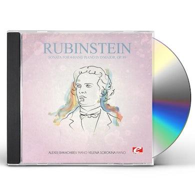 Rubinstein SONATA FOR 4-HAND PIANO IN D MAJOR 89 CD
