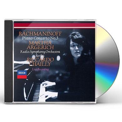 Martha Argerich RACHMANINOV: PIANO CONCERTO NO.3/T CD