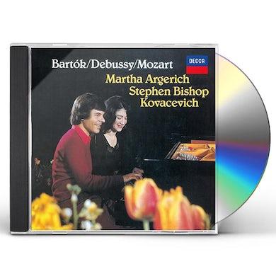 Martha Argerich BARTOK: SONATA FOR 2 PIANOS & PERC CD