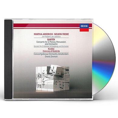 Martha Argerich BARTOK: CONCERTO FOR 2 PIANOS. PERCU CD