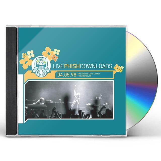 Phish PROVIDENCE CIVIC CENTER PROVIDENCE RI 4/5/98 CD