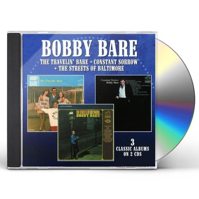 Bobby Bare Travelin' Bare/Constant Sorrow/The Streets of Baltimore CD