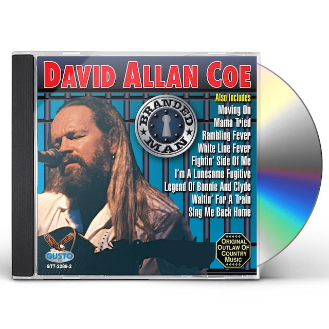 David Allan Coe BRANDED MAN CD