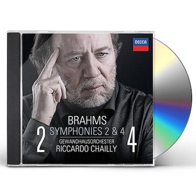 Gewandhausorchester Leipzig BRAHMS: SYMPHONIES NOS. 2 & 4 CD