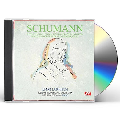 Schumann INTRODUCTION AND ALLEGRO APPASSIONATO FOR PIANO CD