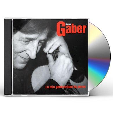 Giorgio Gaber LA MIA GENERAZIONE HA PERSO CD