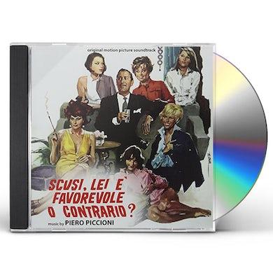 Piero Piccioni SCUSI LEI E FAVOREVOLE O CONTRARIO / Original Soundtrack CD