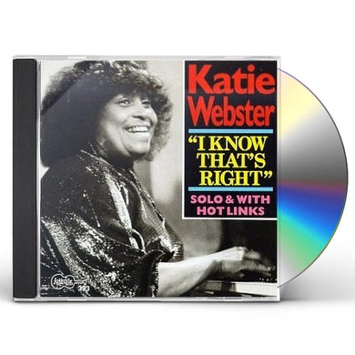 Katie Webster I KNOW THAT'S RIGHT CD