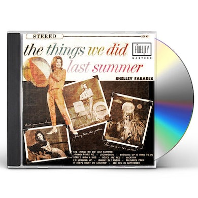 Shelley Fabares THINGS WE DID LAST SUMMER CD