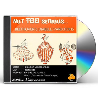Barbara Nissman NOT TOO SERIOUS CD