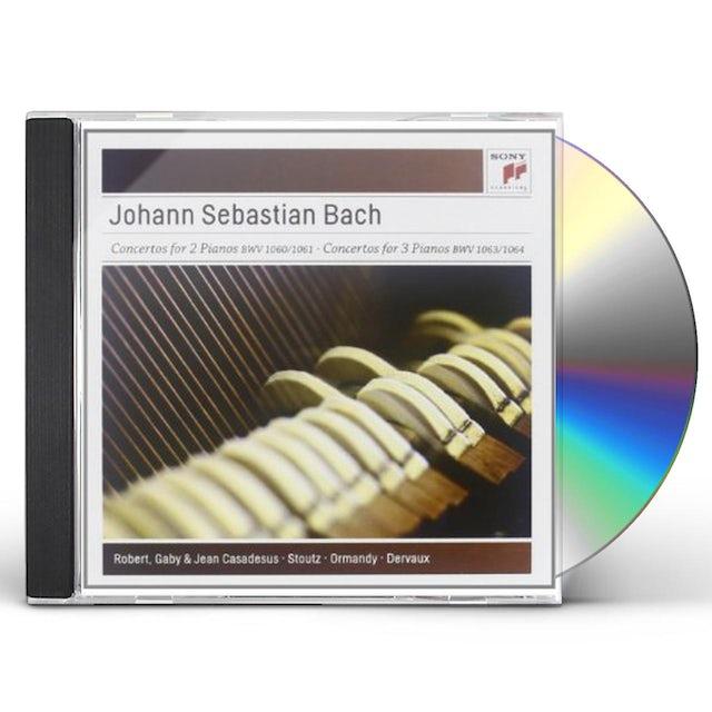 J.S. Bach CONCERTOS FOR TWO & THREE PIANOS CD