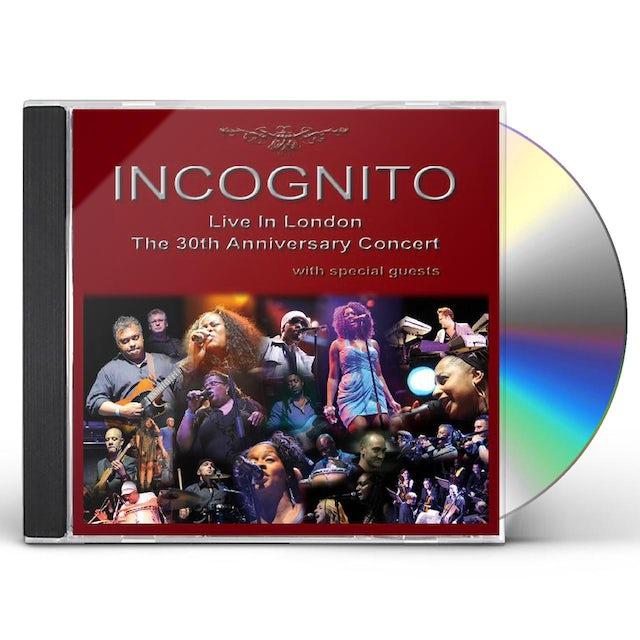 Incognito LIVE IN LONDON: THE 30TH ANNIVERSARY CD